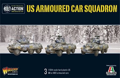 Warlord Games, M8/M20 GREYHOUND SCOUT CAR SQUADRON - Bolt Action Wargaming Miniatures