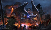 HASTA LA VISTA - DRAGON INVASION - Mat Trading Card Playmat for Magic the Gathering, Pokemon, , Yu-Gi-Oh!, and Cardfight Vanguard Cards - By MAX PRO