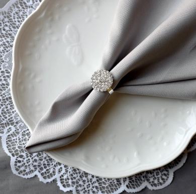 10 pcs Wedding Napkin Ring Rhinestone Napkin Ring Crystal Napkin Ring Wedding Napkin Holder Wedding Table Decor NR002