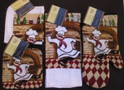 The Pecan Man ,Kitchen Chef Pizza Chef Linen Set of 4