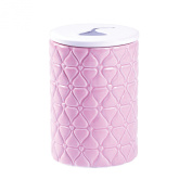 Fitz and Floyd Quilted Kisses Canister, 8.9cm x 13cm 560ml, Pink