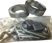 Easy Up Chimney Mount Repair Kit - 7.3m Galvanised Steel Straps & Hardware Only