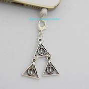 Deathly Hallows Harry Potter - Cell Phone Dust Plug/ Earphone Jack Plug ,Anti-dust Plug Ear Cap 3.5mm for Iphone Ipod. for Samsung 65292; Nokia and Htc
