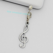 Music Note Charms - Cell Phone Dust Plug/ Earphone Jack Plug ,Anti-dust Plug Ear Cap 3.5mm for Iphone Ipod.for for for for for for for for for Samsung 65292; Nokia and Htc