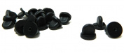 Black PVC Rubber Pin Backs Pack of 50