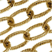 Nunn Design Antiqued Gold Plated Textured Cable Chain By The Foot