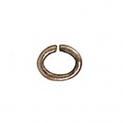 Rhodium Plated Pewter Oval Jump Rings 4mm 20 Gauge