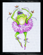 Counted Cross Stitch, Frog Dancer, 18cm by 25cm