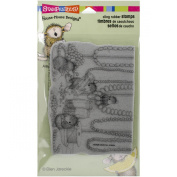 Stampendous cling rubber stamp jewellery making