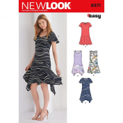 NEW LOOK 6371 Misses' Easy Dresses Sewing Kit, Size A