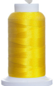 1M-2385 BFC Poly Machine Embroidery Thread, 40 Wt, 1000m, Bright Yellow