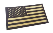 Black and Tan Us Ir Infrared USA Flag Military Morale Reflective Patch