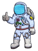Astronaut Thumps up Hand Symbol Clothes Bags Jackets Jeans Embroidered Iron on Patch.