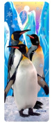 Snow Flakes and Penguins, 3-D Bookmark with Tassel