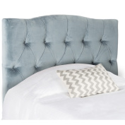 Safavieh Axel Wedgewood Blue Tuffed Headboard