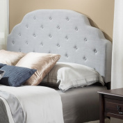 Christopher Knight Home Allyson Adjustable Full/ Queen Button Tufted Fabric Headboard