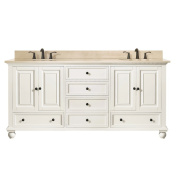 Avanity Thompson 190cm Double Sink Vanity Combo in French White finish