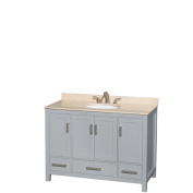 Wyndham Collection Sheffield 120cm Grey Single Vanity, Undermount Oval Sink