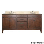 Avanity Madison 180cm Double Vanity in Tobacco Finish with Dual Sinks and Top