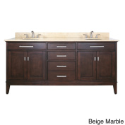 Avanity Madison 180cm Double Vanity in Light Espresso Finish with Dual Sinks and Top