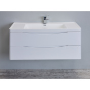 Eviva Smile 120cm Glossy White Modern Bathroom Vanity Set with Integrated White Single Acrylic Sink
