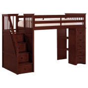 School House Cherry Stair Loft with Chest End