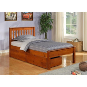 Donco Kids Full Size Contempo Bed with Dual Under Bed Drawers