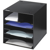 Safco Desktop Black 7-compartment Organiser