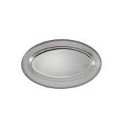 Winco OPL-14 Stainless Steel Oval Platter, 36cm by 22cm by Winco