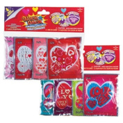 Valentine Wack-A-Pack Assorted Self-Inflating Foil Balloons 4-ct. Packs