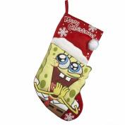 Kurt Adler 48cm Spongebob Printed Applique Stocking