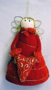 Red Velvet Christmas Treetop or Valentine Angel