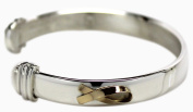 Sterling Silver with Gold Cuff Bracelet Small