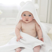Bamboo Baby Hooded Towel with Bear Ears- Organic, Hypoallergenic, Soft, Sized for Infant and Toddler