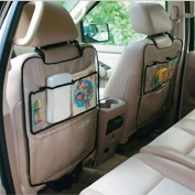 Malloom Durable Car Auto Seat Back Protector Cover for Children Kick Mat Mud Clean with Storage Bag