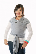 Moby Wrap Bamboo Baby Carrier, Denim Stripes