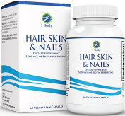 Hair, Skin, and Nails Supplement - 5000 Mcg of Biotin - Unique Extra Strength Formula with 60 Vegetarian Capsules
