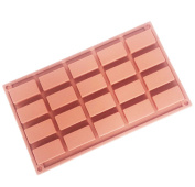 20 holes Rectangular Muffin Cake pan Soap silicone Mould, Chocolate Bar Silicone Mould 29.5*17.5*1.3cm