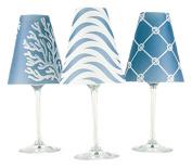 di Potter WS269 Caribbean Paper White Wine Glass Shade, Sea Blue