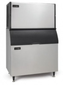 Ice-O-Matic ICE1806HW-B100PS 830kg 120cm Water-Cooled Half Cube Ice Machine w/ Storage Bin