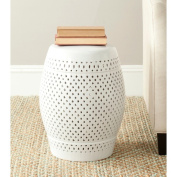 Safavieh Paradise Courtyard White Ceramic Garden Stool