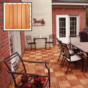 Eucalyptus 6-slat Snapping Deck Tiles