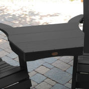 Highwood Marine-grade Synthetic Wood Adirondack Tete-a-Tete Connecting Table