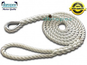 3 Strand Mooring Pendant 100% Nylon Rope 0.2m X 3m with Thimble