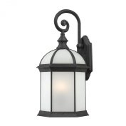Nuvo Boxwood 1-light Textured Black 41cm Wall Sconce