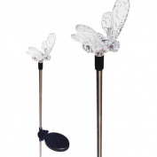 Tricod Solar Powered Bumble Bee Colour Change Garden Stake Light