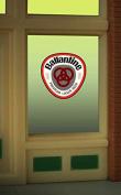 8865 Model Ballantine Beer window sign by Miller Signs