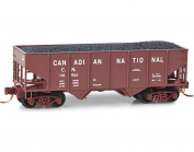 Micro Trains N Scale Canadian National 10m Twin Bay Hopper, Rd#116543 - 05600432