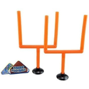 College and Pro Football Finger Flick Sport Game with 2 Goals and 2 Tabs for 1 or 2 Players