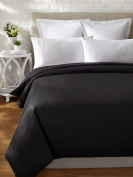Yala LCV800QNBLACK Luxury Silk Habotai Comforter Cover, Queen, Black